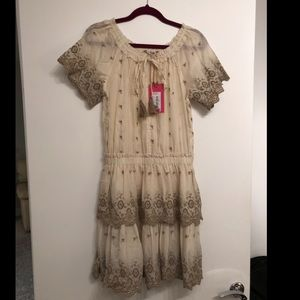 Summer dress with palm trees